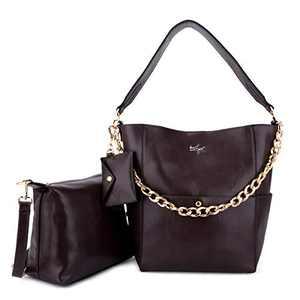Women Fashion Handbags Tote Bag Shoulder Bag Top Handle Satchel Purse Set 5pcs (K.EYRE#2061#K122#2121L.PINK) (KL2240-1#GY21202#125WINE)
