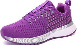 UBFEN Womens Sports Running Shoes Jogging Walking Fitness Athletic Trainers Fashion Sneakers Skateboarding 7.5 Women/6.5 Men Purple