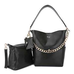 Women Fashion Handbags Tote Bag Shoulder Bag Top Handle Satchel Purse Set 5pcs (K.EYRE#2061#K122#2121L.PINK) (KL2240-1#GY21202#315ARMY GREEN)