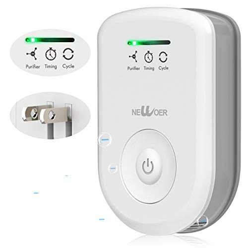 newoer Plug in Air Purifier for Home Bedroom Bathroom and Pet Room