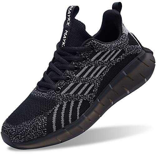 GOOBON Womens Walking Shoes Memory Foam Tennis Athletic Sports Gym Fashion Sneakers Black Size 9.5