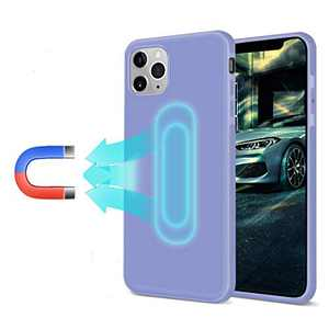 Soft Magnetic Case for iPhone 11 Pro, [Invisible Built-in Metal Plate] Support Magnetic Car Mount, Ultra Thin TPU Shockproof Magnet Case Anti-Scratch 360 Protective Cover for iPhone 11 Pro, Purple