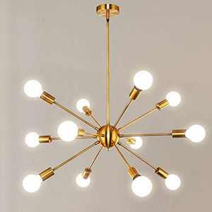 Orange Gold Modern Sputnik Chandeliers 12 Lighting bewamf, Palacelantern Mid Century Vintage Brass Light Fixture Ceiling