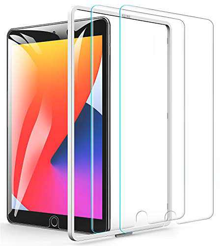 Luckymore 2 Pack Screen Protector for iPad 9th 8th 7th Generation, iPad 10.2 inch Tempered Glass Film(2021/2020/2019 Model)