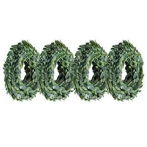 YSBER 100 ft Artificial Wreath Vines Garland, Fake Plant Vine Wedding Party Christmas Home Wall DIY Decoration