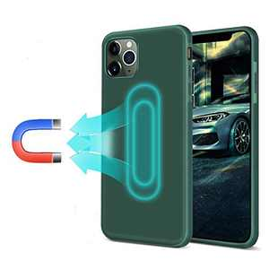 Magnetic Case for iPhone 11, [Invisible Built-in Metal Plate][Microfiber Lining Gel ]Support Magnetic Car Mount, Soft TPU Shockproof Magnet Case Anti-Scratch 360 Protective Cover for iPhone 11, Green