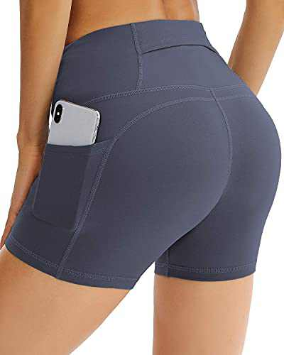 Reshe Workout Leggings for Women with 5 Pockets High Waist Yoga Pants for Women