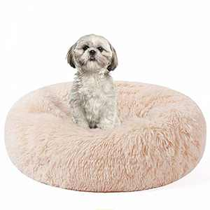 HACHIKITTY Dog beds Indoor Dogs Large, Faux Fur Dog Beds Medium, Calming Dog Beds Machine Washable