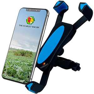 Motorcycle Phone Mount & Bike Phone Mount – Sturdy, Anti-Shake, Universal, Silicone Cell Phone Holder for Bike Handlebar, ATV & More – Light, Easy Install, Cradle Clamp, 360 Rotation by Scarlet Macaw