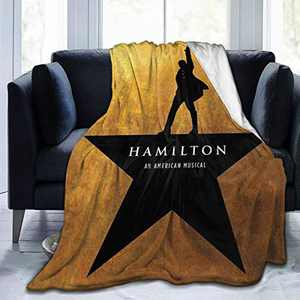 "KFD9 Musicals Hamilton Ultra-Soft Blanket for Couch Bed Warm 50""X40"" Fleece Plush Throw Blanket Suitable for All Season"