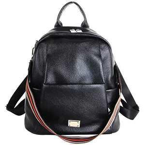 Women Fashion Backpack Multipurpose Design Purse Soft Faux Leather Handbags Shoulder Bag Vegan PU Travel Bag ELANZA