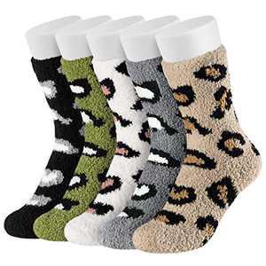 Easycosy Coral Fleece Socks - Cat Paw Socks / Super Soft Plush Slipper Sock Casual Socks