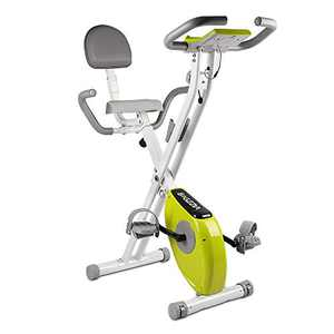 Bigzzia Exercise Bike,Upright and Foldable Stationary Bike with Magnetic Resistance/LCD Monitor/Pulse Sensors,Fitness Exercise for Home Gym