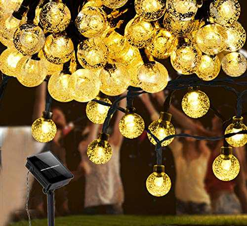 Solar LED String Lights for Outdoor, 100 LED 39ft 8 Modes Waterproof Fairy Decorative Copper Wire Lights for Patio, Garden,Gate Yard, Christmas, Wedding, Party (White Warm Light)