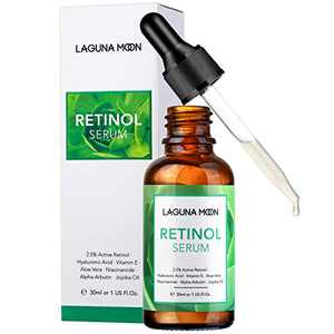 Lagunamoon Retinol Serum for Face, Anti-Aging Moisturizing Facial Serum for Smooth Fine Lines & Wrinkles, Hydrating Skin with Hyaluronic Acid & Vitamin E