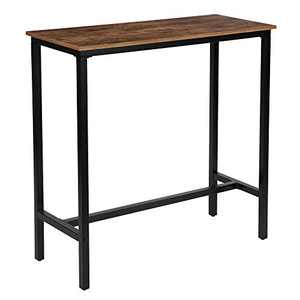 "KOZYSPHERE 39.5"" Pub Bar Table with Metal Frame, Pub Height Table Bistro Table Mini-Buffet Table Stand Desk Entry Way Table for Dining Room,Living Room (Indoor USE ONLY)"