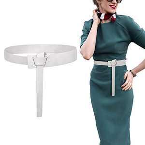 Women Leather Belt Tie a Knot Faux Leather Belt SUOSDEY Fashion Waist Belt for Dresses Jumpsuit Coat