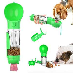 uqy Dog Hiking Water Dispenser, Portable Travel Pet Feeder Drinking Dispenser, Leak Proof Puppy Water Bottle for Pets Outdoor Walking, Hiking, Travel, Food Grade Plastic