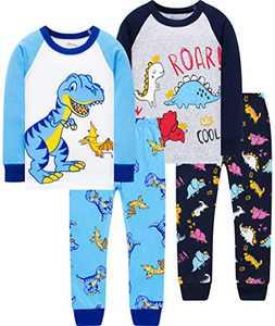 Boys Girls Christmas Pajamas Children Dinosaurs Pjs Kids Cotton Pyjamas School Sleepwear 10t