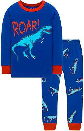 Boys Cartoon Dinosaurs Pajamas Kids Christmas Pyjamas Chilren Cute Clothing Set Size 6