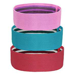 TOPNaturePlus Resistance Bands, Booty Bands Set for Legs and Butt, Non Slip and Best for Home Fitness, Strength Training, Stretching, Yoga Pilates Muscle Training Exercise Bands - 3 Set