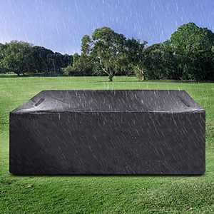 """Innoo Tech Outdoor Patio Furniture Cover Protective Cover Square (71""""X47"""" X29"""") Waterproof Patio Furniture Cover, Windproof, Uv Protection, for Patio Furniture, Outdoor Black"""