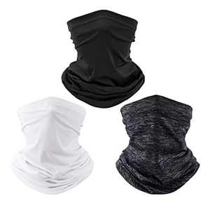 3 Pack Neck Gaiter Face Mask Reusable, Face Cover Outdoor Face Bandana for Women & Men, Dust&UV-Protection Face Scarf Balaclava for Cycling Fishing