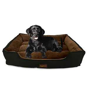 N/P Apetly Dog Bed pet Bed for Large Dogs and Cats,Bed with Machine Washable,Comfortable and Safety for Medium and Large Dogs (XXL, Black)