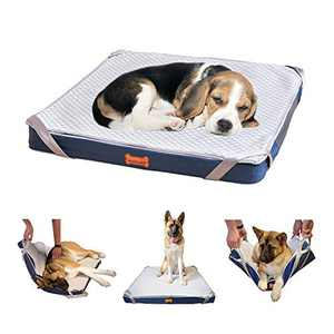 LOOBANI Orthopedic Moving Easily Dog Bed, Special Design for Senior/Old Dog and Dogs with Mobility Problem, Washable Liner Non-Slip Bottom Pet Bed Mattress(31.5''×31.5'')