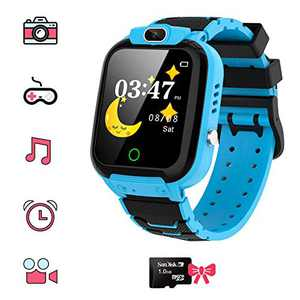 Kids Smart Watch for Boys Girls - HD Touch Screen Game Smartwatch with MP3 Music Player Calculator Alarm Clock Camera 7 Games Watchs for Birthday Gifts , Suitable for Aged 4-12(Blue)