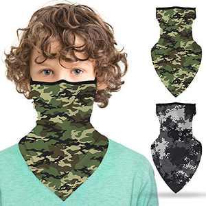 ZukoCert Kids Face Cover Cycling Outdoor Girls Boys Face Scarf Balaclava Dust-Proof Kids Bandanas Kids Neck Gaiter(D)