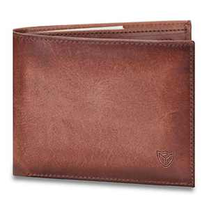Bifold Wallet for Men RFID Blocking Leather Wallet with Zipper Coin Purse Slim Card Case Front Pocket Wallet