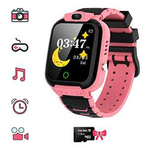 Kids Games Watchs - HD Touch Screen Game Smart Watch with MP3 Music Player Calculator Alarm Clock Camera 7 Games Watchs for Boys Girls Birthday Gifts , Suitable for Aged 4-12(Pink)