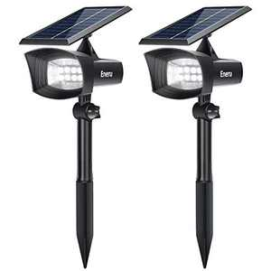 [Upgraded] Eneru Solar Spot Lights Outdoor, LEDs Solar Landscape Spotlights IP67 Waterproof Solar Powered Wall Lights 2 in 1 Dusk to Dawn for Garden Pathway Yard Driveway Garage 2 Pack Cold White