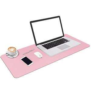 "Desk Pad, Leather Desk Blotter Non-Slip PVC Desk Writing Mat, Waterproof Round Edges Desk Pad Protector Table Cover Mat for Office Home Desks 35.4""x15.7"""