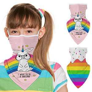 ZukoCert Kids Face Cover Cycling Outdoor Girls Boys Face Scarf Balaclava Dust-Proof Kids Bandanas Kids Neck Gaiter(C)