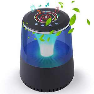 HEPA Air Purifier for Small Room with True HEPA Filter, Sleep Mode, Night Light, Bluetooth Speaker