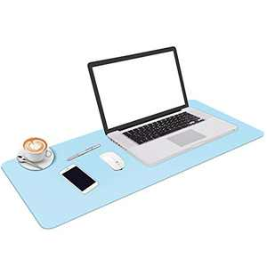 """Leather Desk Pad, Office Desk Mat Blotter on top of desks, Large Computer Desk Mat, Waterproof Non Slip Desk Pad Protector for Office and Home 35.43""""X15.75"""""""
