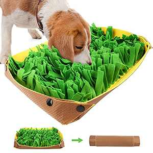 PrimePets Snuffle Mat for Dogs - Pet Interactive Nosework Feeding Mat for Indoor & Outdoor - Anti-Slip Washable Activity Pad for Boredom, Foraging Skills Training