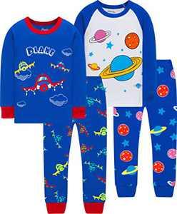 Little Boys Colors Airplane Pajamas Christmas Children Space Pjs Kids Cotton School Sleepwear Size 5