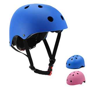 Szulight Toddler Kids Bike Helmet Adjustable for Boys Girls 3-14 Years (Blue, Medium)