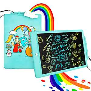 Educational Learning Toys Age 2-10 Years Old Girl Boy, 10 Inch LCD Writing Tablet Kids Drawing Board Colorful Screen, Drawing Tablet Toddler Preschool Toy Gift Kids Drawing Pad for Ages 2+, Blue