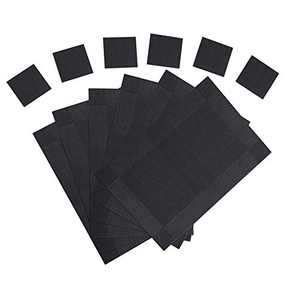 Placemats for Dining Table Set of 6 Place Mats and 6 Coasters for Drinks (black)