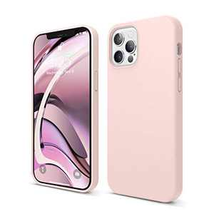 elago Liquid Silicone Case Compatible with iPhone 12 and Compatible with iPhone 12 Pro 6.1 Inch (Lovely Pink) - Full Body Protection (Screen & Camera Protection)