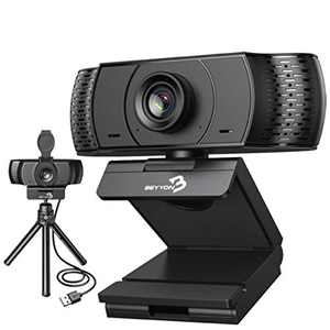 USB Webcam with Microphone-BEYYON Tripod Mounted Webcam 1080P/2MP Wide Angle Webcam HD USB Webcam,Plug and Play,for Windows Mac OS, Conference, Gaming, Online Classes