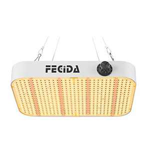 FECiDA Newest Dimmable LED Grow Light CR600 Compatible with 588PCS LEDs & Double Driver Grow Lights Full Spectrum for Indoor Plants Seeding Veg Flower Growing Lamp in Grow Tent (1, White)