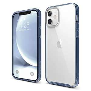 elago Hybrid Clear Case Compatible with iPhone 12 Case and Compatible with iPhone 12 Pro Case 6.1 Inch (Pacific Blue) - Shockproof Bumper Cover Protective Case