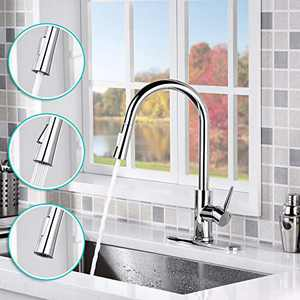 AMAZING FORCE Touchless Kitchen Faucet with 2 Modes Pull Down Sprayer, Single Handle Automatic Motion Sensor Kitchen Sink Faucet with Fingerprints Resistant, Chrome