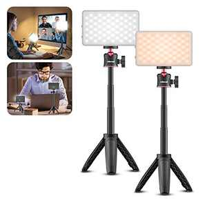 2 Pack Video Conference Lighting Kit, VIJIM Zoom Light for Computer Laptop, Rechgargeable Bi-Color Webcam Light for Zoom Call/Remote Working/Self Broadcasting and Live Streaming