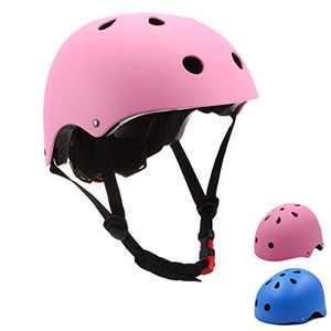 Szulight Toddler Kids Bike Helmet Adjustable for Boys Girls 3-14 Years (Pink, Medium)